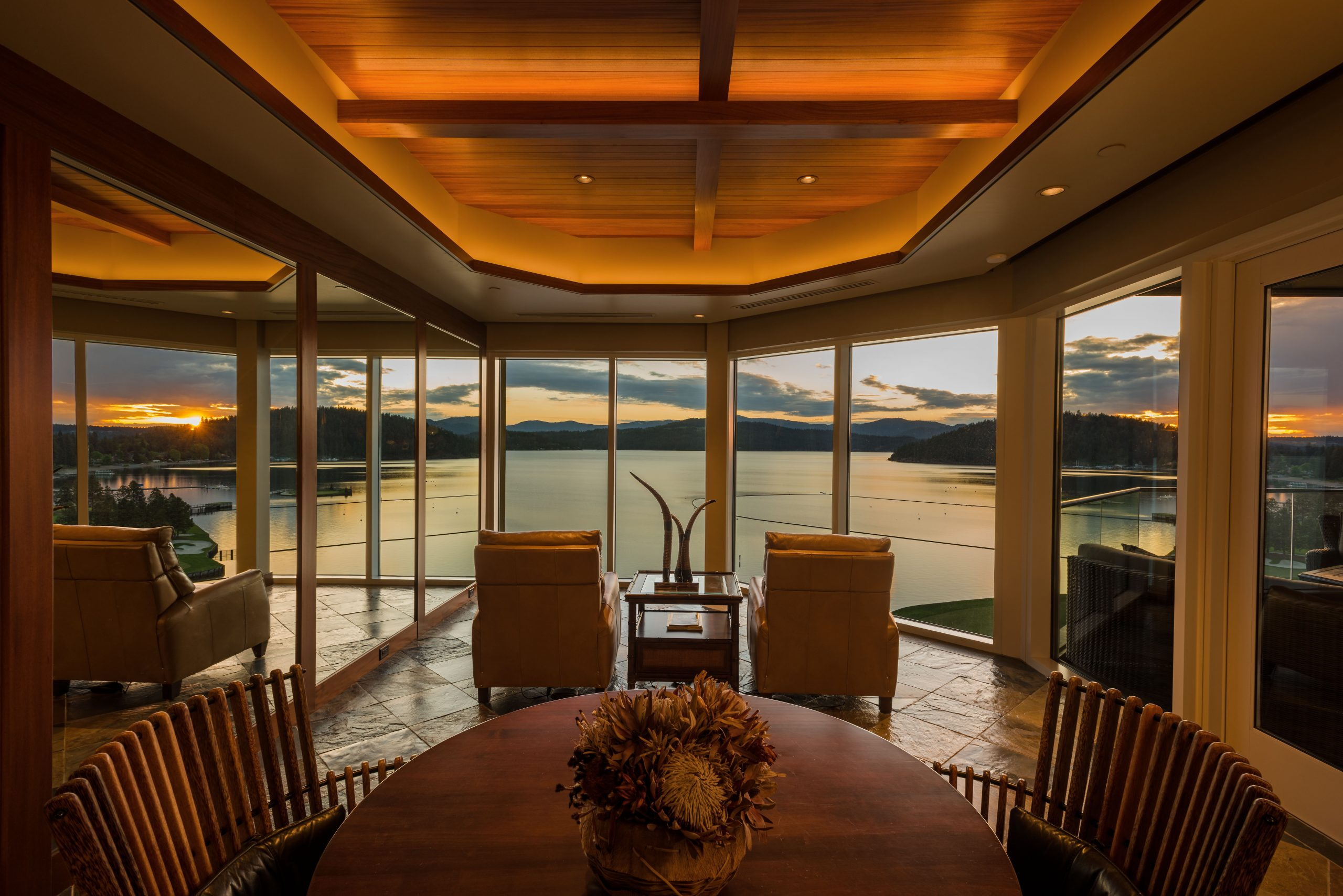 This project was an interior improvement of a terrace condo that overlooks beautiful Lake Coeur d'Alene in Idaho.