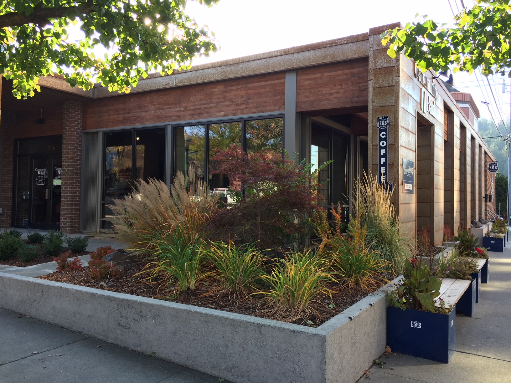 The Community 1st Bank project on Sherman Avenue in downtown Coeur d'Alene was the conversion from offices for a local TV/Radio station into a branch location for a financial institution.