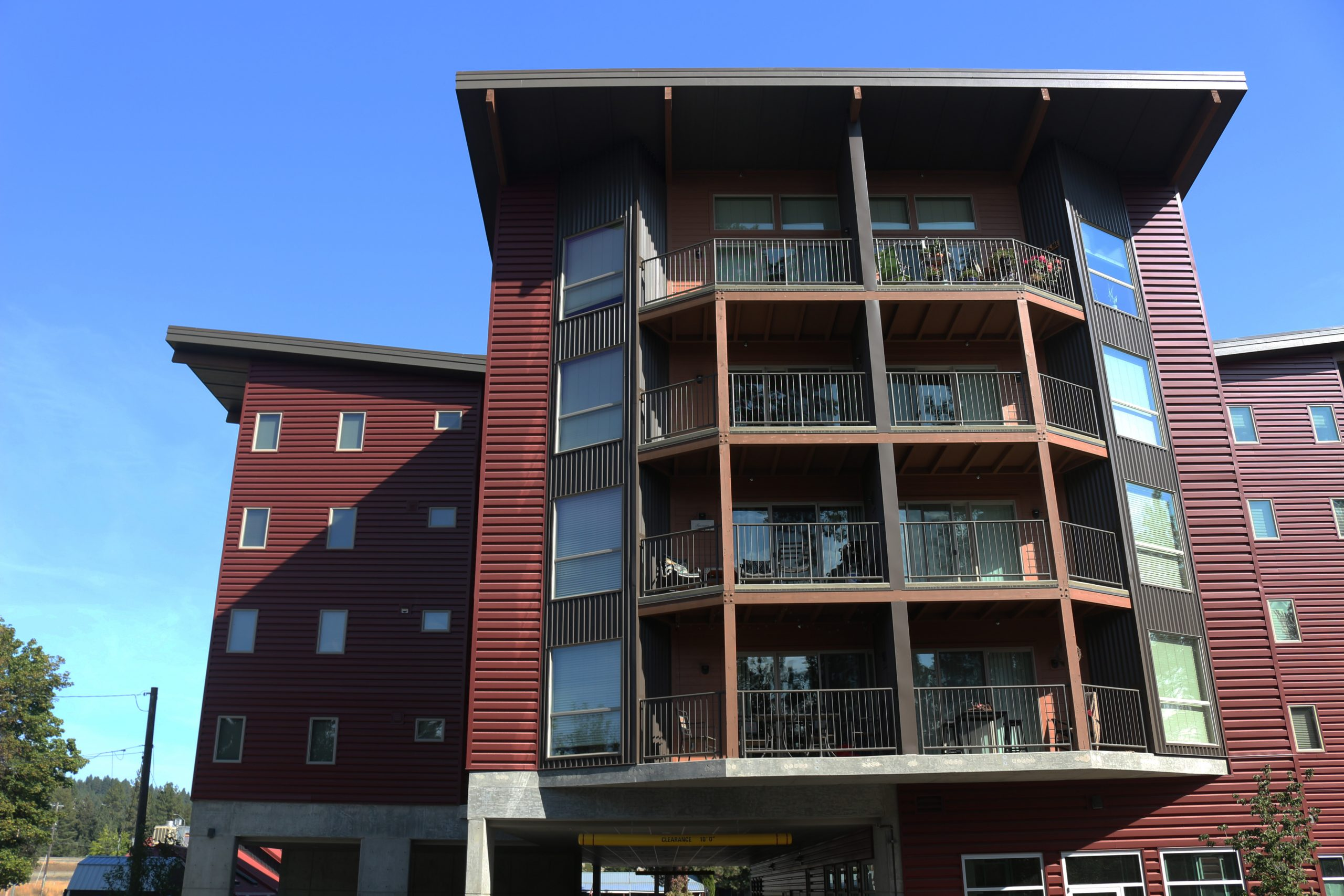 Lake Drive Apartments is a mixed-use project located in Coeur d'Alene Idaho and features a retail space that includes the local Bakery by the Lake.